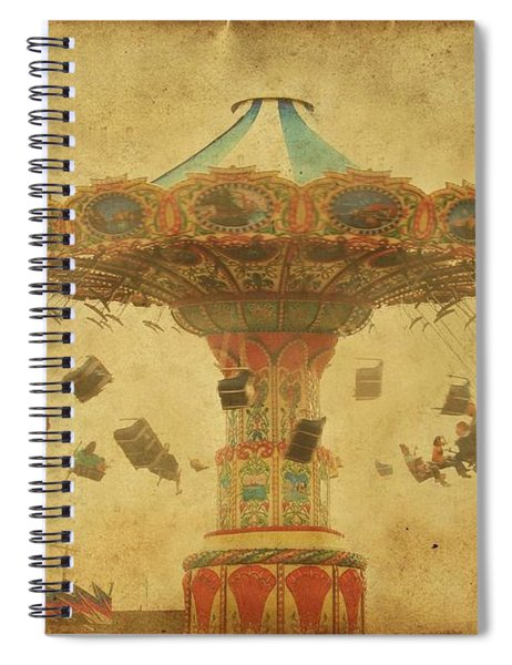 Swing Chair Ride At Jenkinsons Boardwalk - Jersey Shore Spiral Notebook