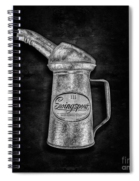 Swingspout Oil Can Bw Spiral Notebook