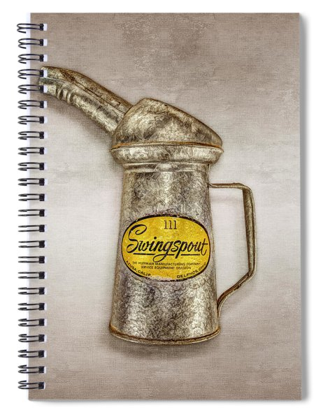 Swingspout Oil Canister Spiral Notebook