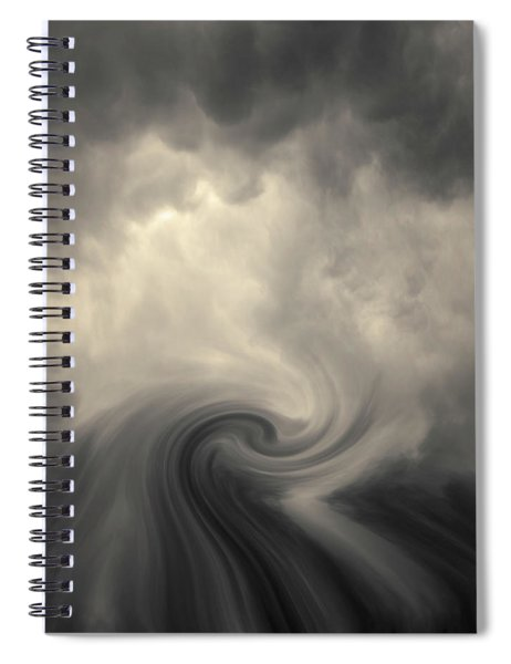 Swirl Wave Vi Toned Spiral Notebook