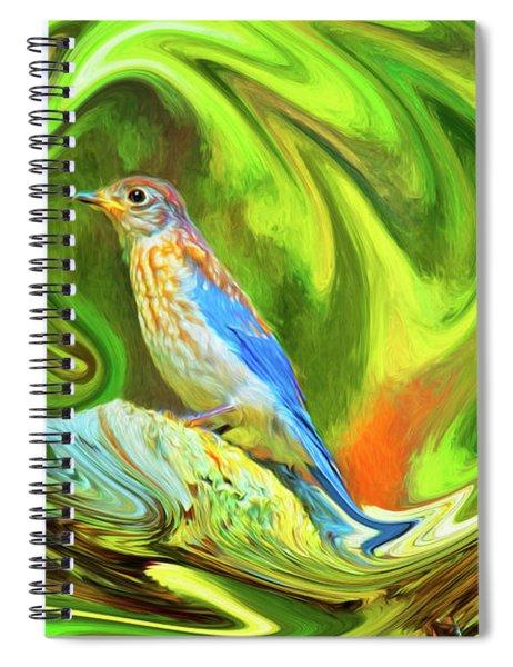 Swirling Bluebird  Spiral Notebook