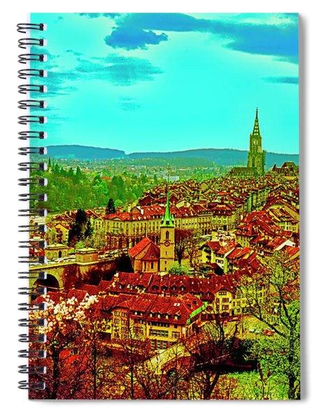 Switzerland Bern City View Matte Aare River    Spiral Notebook