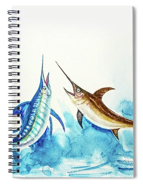 Swordfish And Marlin Pair  Spiral Notebook