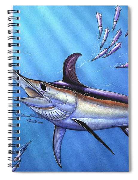 Swordfish In Freedom Spiral Notebook