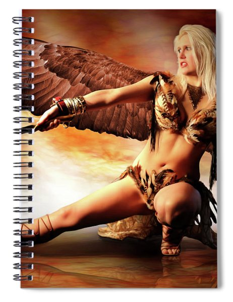Swords Of The Hawk Woman Spiral Notebook