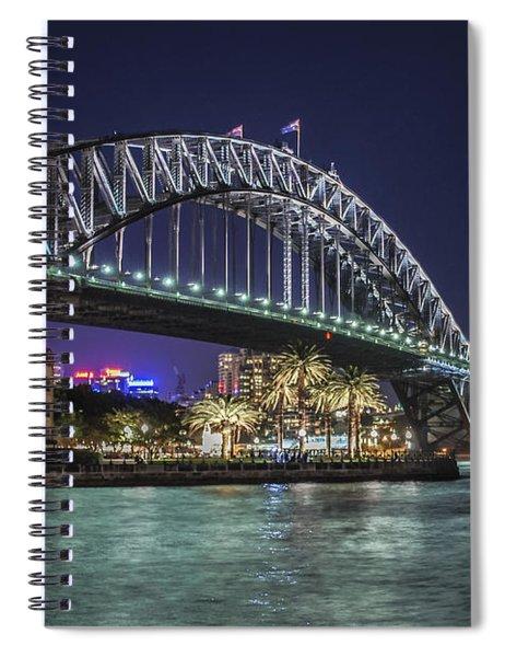 Sydney Harbor Bridge At Night Spiral Notebook