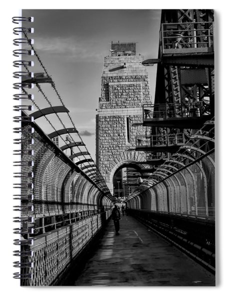 Sydney Harbor Bridge Bw Spiral Notebook