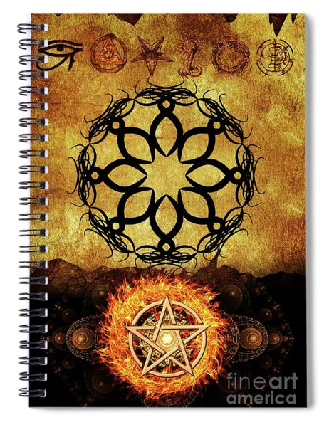 Symbols Of The Occult Spiral Notebook
