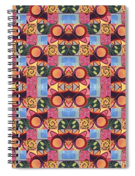 Synchronicity - A  T J O D 1 And 9 Arrangement Spiral Notebook
