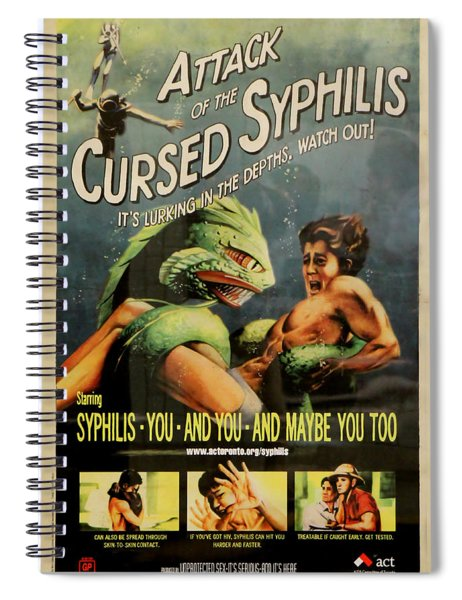 Syphilis Poster Spiral Notebook