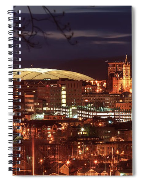 Syracuse Dome At Night Spiral Notebook