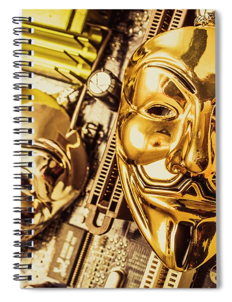 Systems Of Anon Spiral Notebook