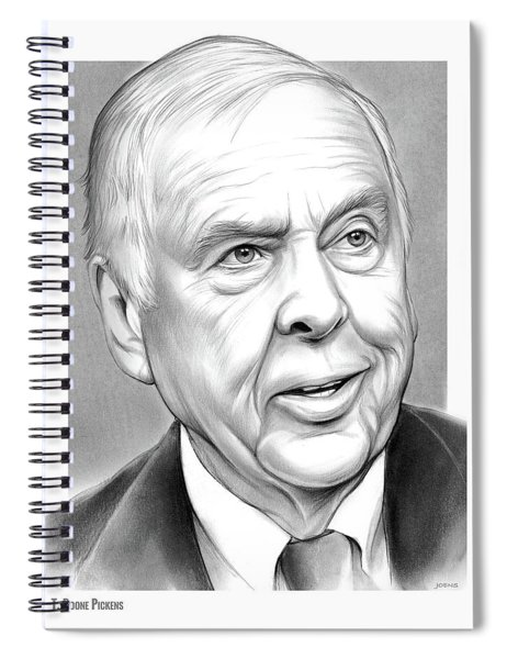 T Boone Pickens Spiral Notebook