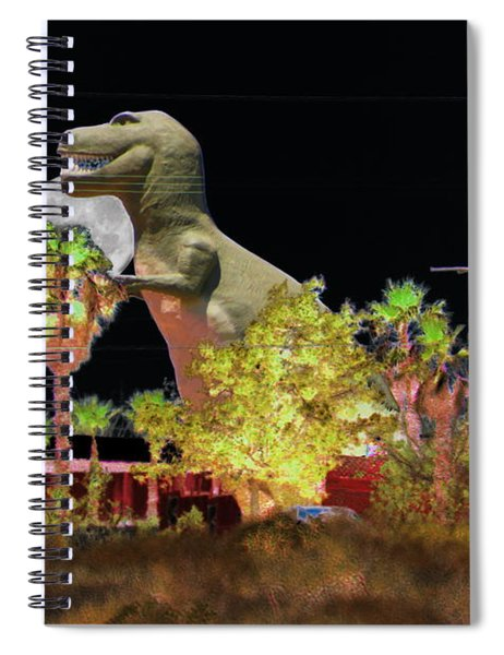 T-rex In The Desert Night Spiral Notebook