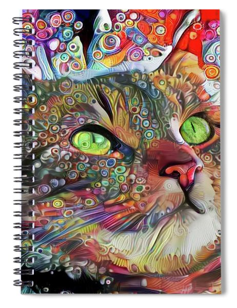 Tabby Cat Color Blast Spiral Notebook