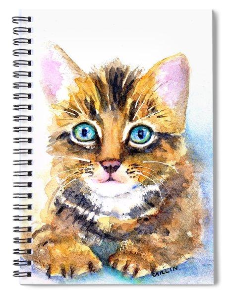Tabby Kitten Watercolor Spiral Notebook
