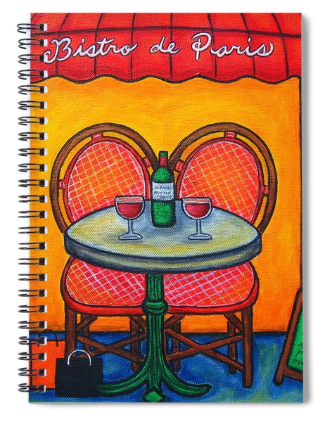 Table For Two In Paris Spiral Notebook