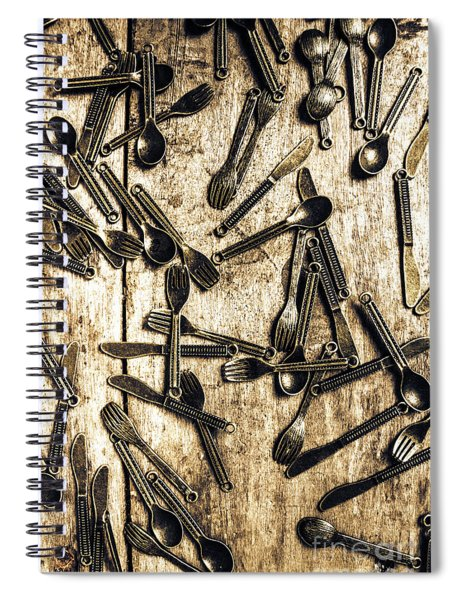 Tableware Abstract Spiral Notebook