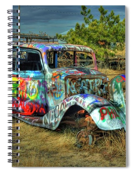 Tagged #3 Spiral Notebook