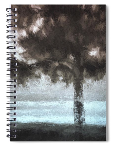 Tahoe Pine Painterly Effect Spiral Notebook
