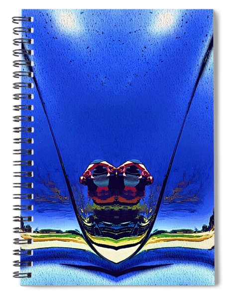 Tail Light Reflections On Venus Spiral Notebook