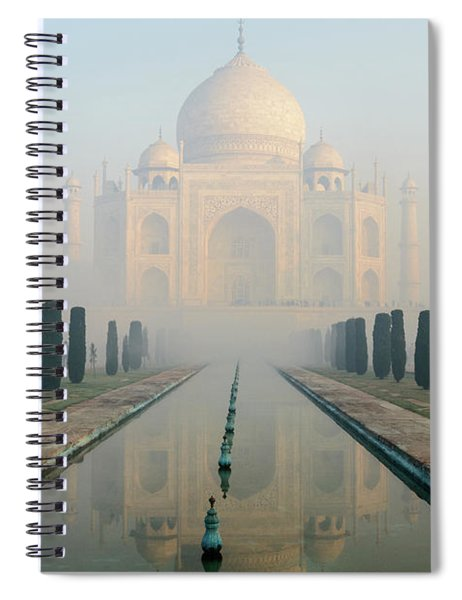Taj Mahal At Sunrise 02 Spiral Notebook