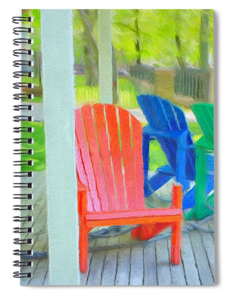 Take A Seat But Don't Take A Chair Spiral Notebook