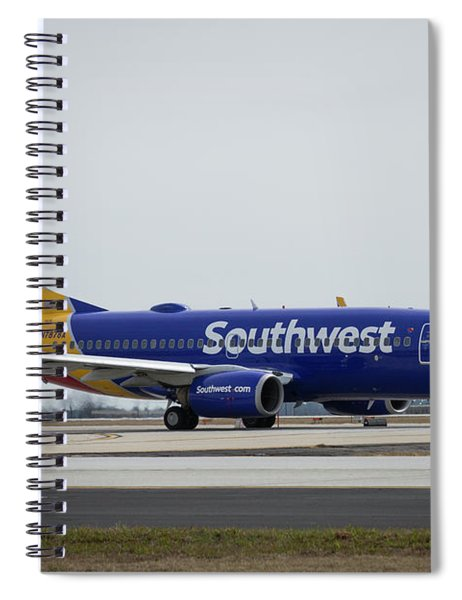 Take Off Southwest Airlines N7878a Hartsfield-jackson Atlanta International Airport Art Spiral Notebook
