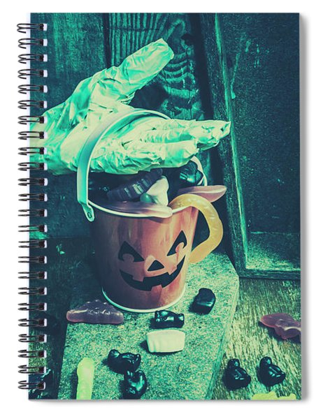 Taking Candy From The Little Monsters Spiral Notebook