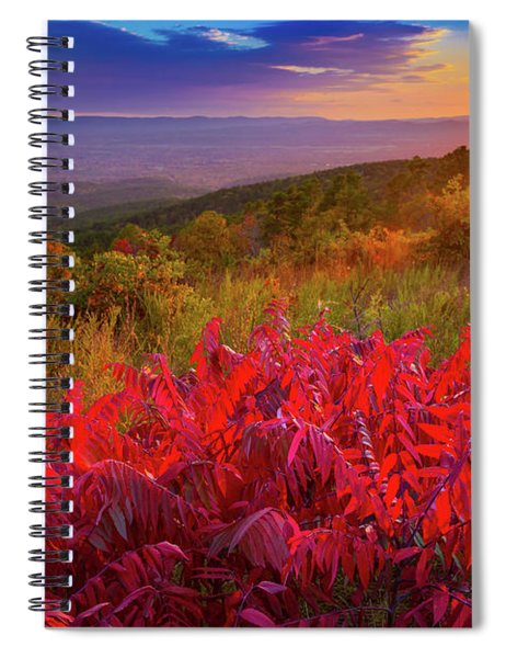 Spiral Notebook featuring the photograph Talimena Evening by Inge Johnsson