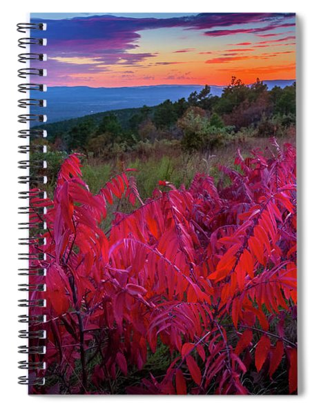 Talimena Twilight Spiral Notebook by Inge Johnsson