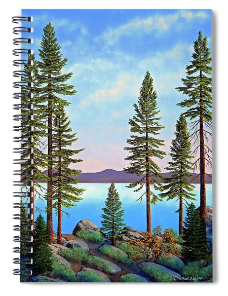Tall Pines Of Lake Tahoe Spiral Notebook