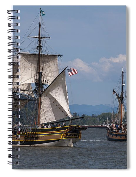 Tall Ships Square Off Spiral Notebook