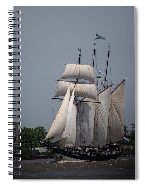 Tall Ships To Nola Spiral Notebook