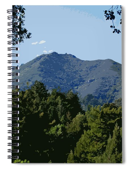 Tamalpais...the Sleeping Princess Spiral Notebook