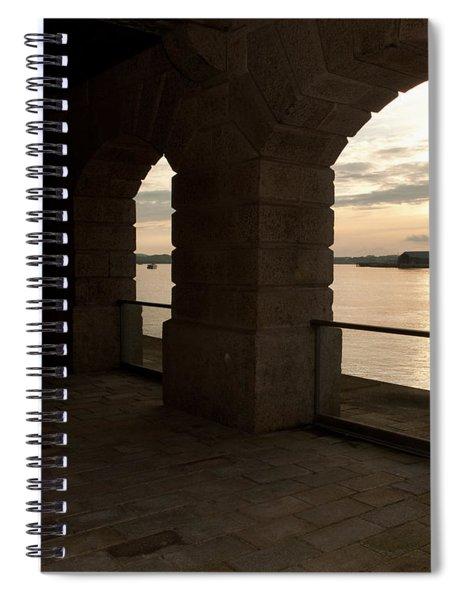 Tamar Estuary Sunset Spiral Notebook
