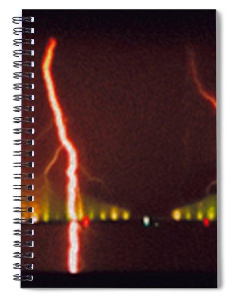 Tampa Bay Lightning Over The Skyway Bridge Spiral Notebook