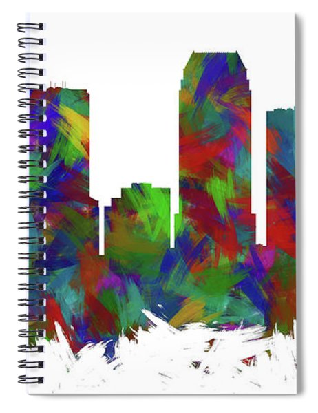 Tampa Skyline Silhouette Abstract I Spiral Notebook