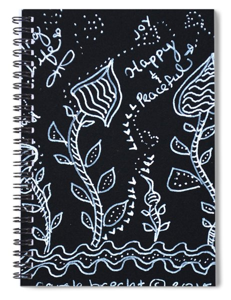 Tangle Flowers Spiral Notebook