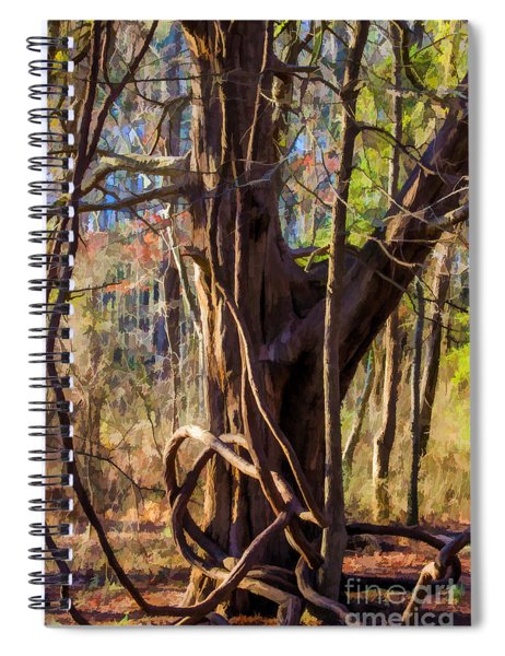 Tangled Vines On Tree Spiral Notebook