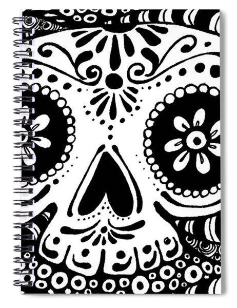 Tangled Skull Spiral Notebook