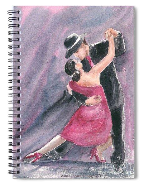 Tango Dancers Spiral Notebook