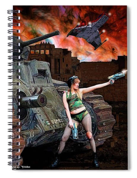 Tank Girl In Action Spiral Notebook