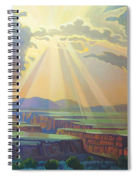 Taos Gorge God Rays Spiral Notebook