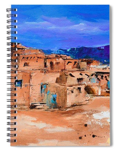 Taos Pueblo Village Spiral Notebook