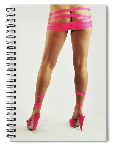 Tape And Heels Spiral Notebook