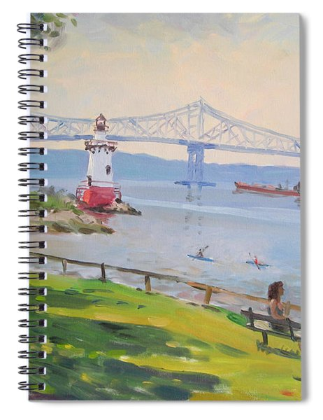 Tappan Zee Bridge And Light House Spiral Notebook