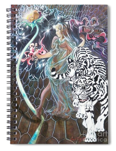 Blaa Kattproduksjoner                           Tapping The Lifeline Spiral Notebook