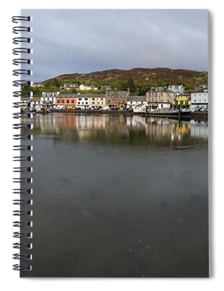 Tarbert Harbour - Panorama Spiral Notebook