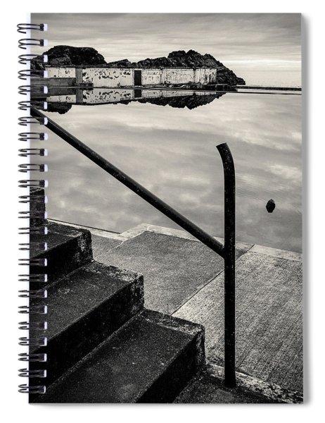 Tarlair Pool Reflection Spiral Notebook
